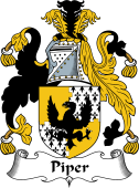 English Coat of Arms for Piper