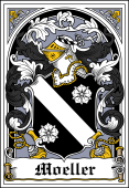 German Wappen Coat of Arms Bookplate for Moeller