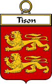 French Coat of Arms Badge for Tison