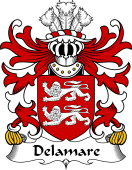 Welsh Coat of Arms for Delamare (of Oxwich, Gower)