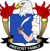 American Coat of Arms for Prevost