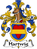 German Wappen Coat of Arms for Hartwig