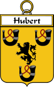 French Coat of Arms Badge for Hubert