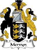 English Coat of Arms for Mervyn