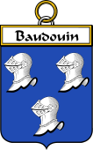 French Coat of Arms Badge for Baudouin