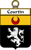French Coat of Arms Badge for Courtin