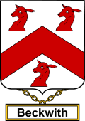 English Coat of Arms Shield Badge for Beckwith