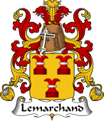 Coat of Arms from France for Lemarchand (Marchand le)