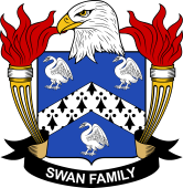 American Coat of Arms for Swan