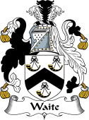 English Coat of Arms for Wait (e) or Wayte