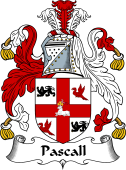 English Coat of Arms for Pascall or Paschall