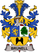 Swedish Coat of Arms for Brunell