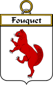 French Coat of Arms Badge for Fouquet