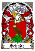 German Wappen Coat of Arms Bookplate for Schade