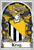 Danish Coat of Arms Bookplate for Krag
