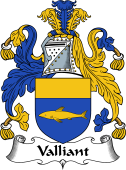 English Coat of Arms for Valliant