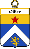 French Coat of Arms Badge for Ollier