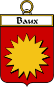 French Coat of Arms Badge for Baux (Des)