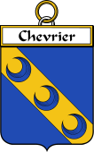 French Coat of Arms Badge for Chevrier