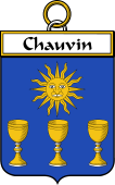 French Coat of Arms Badge for Chauvin
