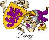 Sept (Clan) Coat of Arms from Ireland for Lacy