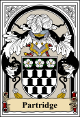 English Coat of Arms Bookplate for Partridge