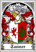 German Wappen Coat of Arms Bookplate for Tanner