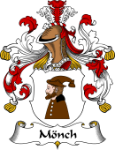 German Wappen Coat of Arms for Mönch