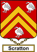 English Coat of Arms Shield Badge for Scratton