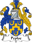 English Coat of Arms for Peploe
