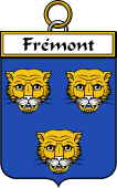 French Coat of Arms Badge for Frémont