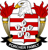 American Coat of Arms for Porcher