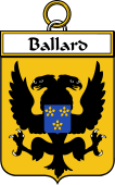 French Coat of Arms Badge for Ballard