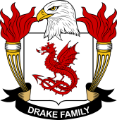 American Coat of Arms for Drake