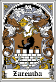 Polish Coat of Arms Bookplate for Zaremba