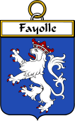 French Coat of Arms Badge for Fayolle