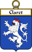 French Coat of Arms Badge for Claret
