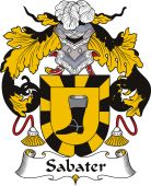 Spanish Coat of Arms for Sabater