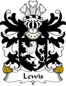 Welsh Coat of Arms for Lewis (of Y Fan or Van, Caerphilly, Glamorgan)