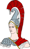 Gods and Goddesses Clipart image: Minerva Bust