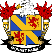 American Coat of Arms for Monnet
