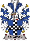 Danish Coat of Arms for Aslaksen