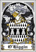 Irish Coat of Arms Bookplate for O'Higgin