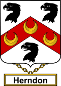 English Coat of Arms Shield Badge for Herndon