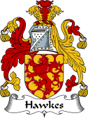 English Coat of Arms for Hawkes