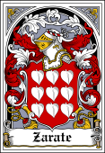 Spanish Coat of Arms Bookplate for Zarate