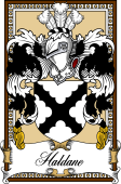 Scottish Coat of Arms Bookplate for Haldane