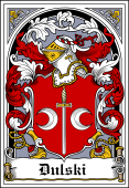 Polish Coat of Arms Bookplate for Dulski