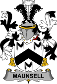 Irish Coat of Arms for Maunsell