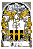 German Wappen Coat of Arms Bookplate for Ulrich